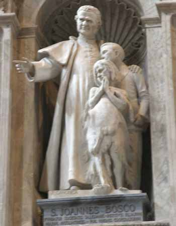 Statue of St John Bosco in St. Peter's Cathedral in Vatican City