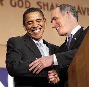 President Obama with Sen. Bob Casey