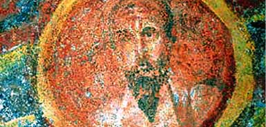 The 4th-century portrait was found in the catacombs of St Thecla, not far from the Basilica of St Paul's Outside the Walls